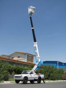 نیسان بالابر اولین بالابر نیسانی 14 متری ساخت کشور